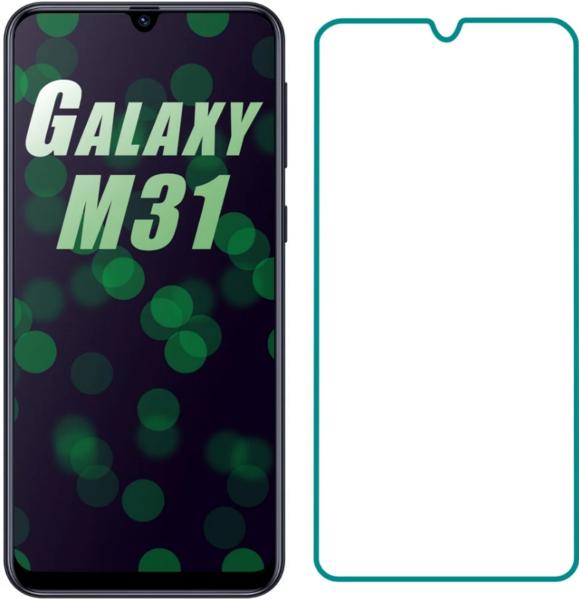 Защитное стекло для Samsung Galaxy M21, цвет: прозрачный
