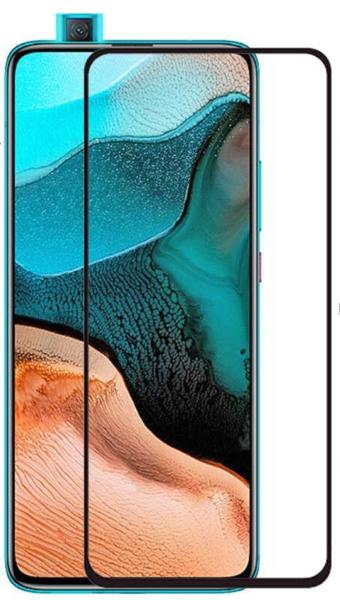 Защитное стекло для Xiaomi K30 Pro ZOOM 5D (полная проклейка), цвет: черный