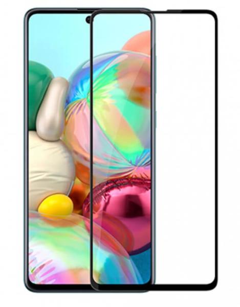 Защитное стекло для Samsung Galaxy A72 5D (полная проклейка), цвет: черный