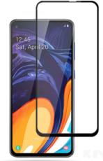 Защитное стекло для Samsung Galaxy A60 (SM-A606F) 5D (полная проклейка), цвет: черный