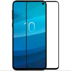 Защитное стекло для Samsung Galaxy S10e (G970) 5D (полная проклейка), цвет: черный