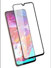 Защитное стекло для Samsung Galaxy A70s 5D (полная проклейка), цвет: черный