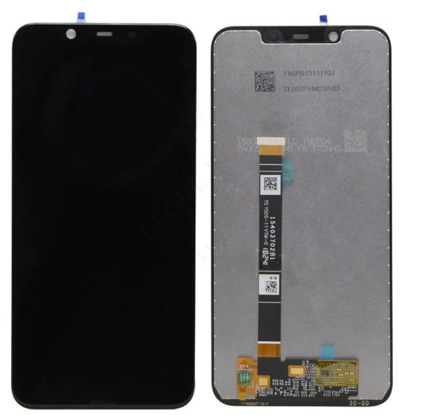 Экран для Nokia 8.1 с тачскрином, цвет: черный