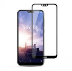 Защитное стекло для Nokia 6.1 Plus + (X6) 5D (полная проклейка) цвет: черный