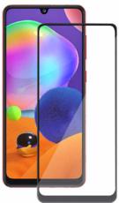 Защитное стекло для Samsung Galaxy A21 5D (полная проклейка), цвет: черный