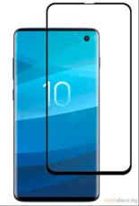 Защитное стекло для Samsung Galaxy S10 (SM-G977, G973) 5D (полная проклейка), цвет: черный