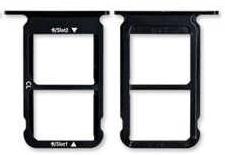 Sim-слот (сим-лоток) для Huawei Honor 10, цвет: черный