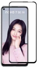 Защитное стекло для Huawei Nova 7 SE 5D (полная проклейка), цвет: черный