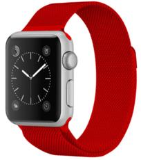 Металлический ремешок для Apple Watch 42/44 мм, цвет: красный