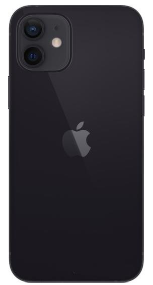 Задняя крышка (корпус) для Apple iPhone 12, цвет: черный