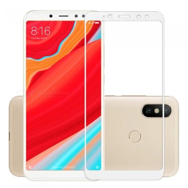 Защитное стекло для Xiaomi Redmi S2 5D (полная проклейка), цвет: белый