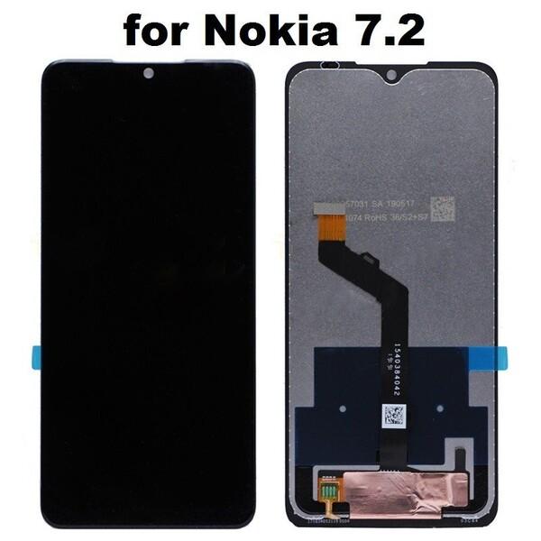 Экран для Nokia 7.2 с тачскрином, цвет: черный