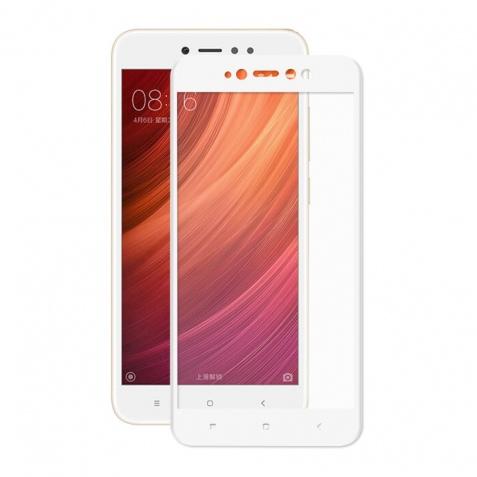 Защитное стекло для Xiaomi Redmi 5a, 5D (полная проклейка), цвет: белый