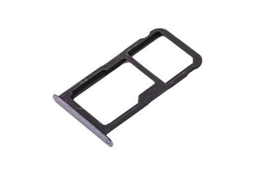 Sim-слот (сим-лоток) для Huawei P10 Lite, цвет: серый