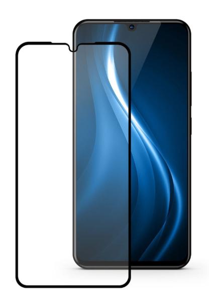 Защитное стекло для Vivo V11, V11 Pro, X23, iQOO Pro, Realme XT 5D (полная проклейка) цвет: черный