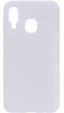 Чехол для Samsung Galaxy A40 Silicone Case, цвет: белый