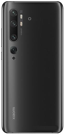 Задняя крышка (корпус) для Xiaomi Mi Note 10, цвет: черный