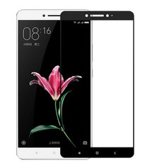 Защитное стекло для Xiaomi Mi MAX 2 3D (проклейка по контуру), цвет: черный