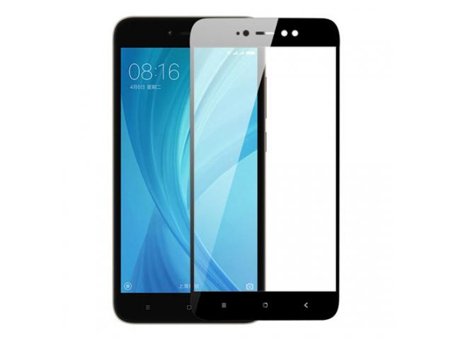 Защитное стекло для Xiaomi Redmi Note 5a Prime 5D (полная проклейка), цвет: черный