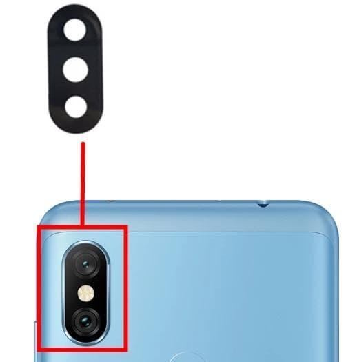 Стекло задней камеры для Xiaomi Redmi Note 6, Note 6 Pro, цвет: черный