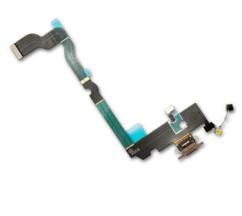 Шлейф с разъемом зарядки и микрофоном для Apple iPhone XS Max (Charge Conn), цвет: золотой