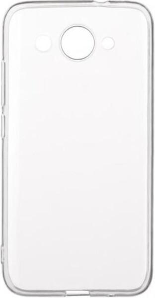 Чехол для Huawei Y3 2017 силиконовый, цвет: прозрачный