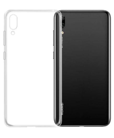 Чехол для Huawei Y6 Pro 2019 силиконовый, цвет: прозрачный