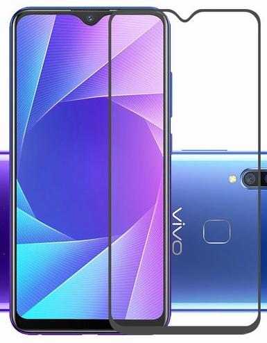 Защитное стекло для Vivo Y90, Y91, Y93, Y95 5D (полная проклейка) цвет: черный