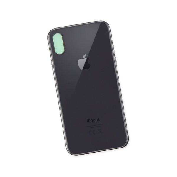 Задняя крышка для Apple iPhone X, цвет: черный