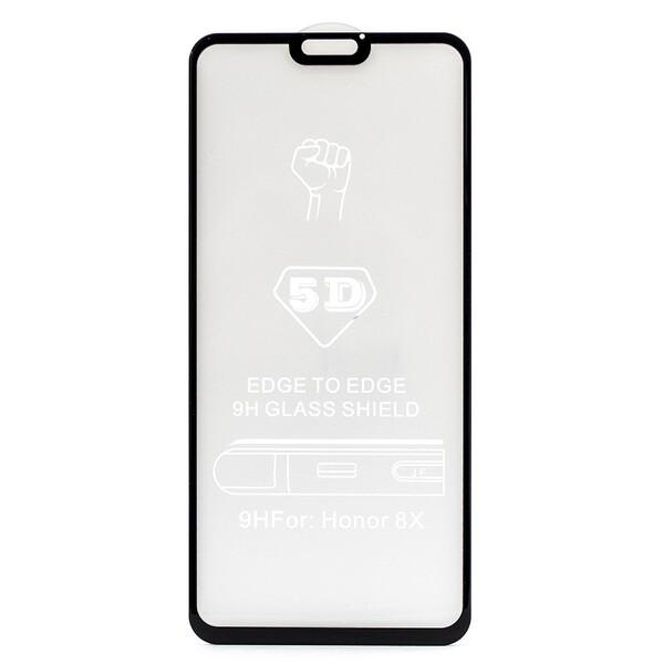 Защитное стекло для Huawei Honor 8X 5D (полная проклейка) цвет: черный