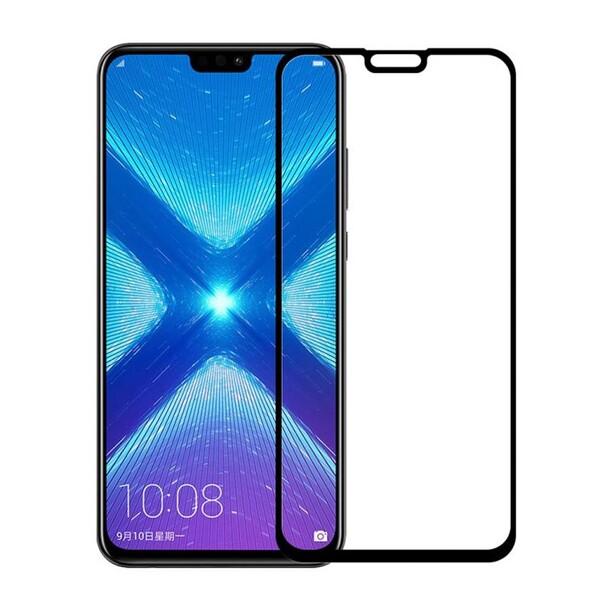 Защитное стекло для Huawei Y9 2019 5D (полная проклейка) цвет: черный
