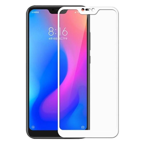 Защитное стекло для Xiaomi Mi8 Lite 3D (проклейка по контуру), цвет: белый