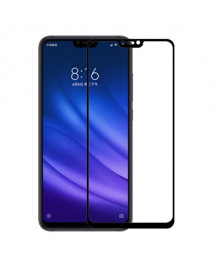 Защитное стекло для Xiaomi Mi8 Lite 5D (полная проклейка), цвет: черный